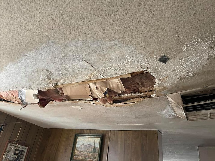 This Cornville home needed ceiling and roof repairs. The Verde Valley Habitat for Humanity's Critical Home Repair Program took care of the repairs. Habitat benefits from contributions of the Rotary Club of the Verde Valley. Courtesy photo