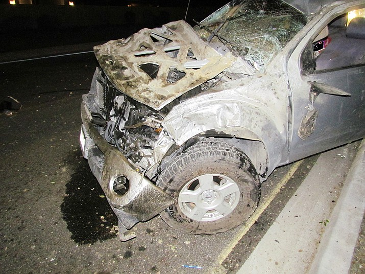 A rollover collision on Glassford Hill Road resulted in one person's death Sunday, June 6, 2021, in Prescott Valley. (PVPD/Courtesy)