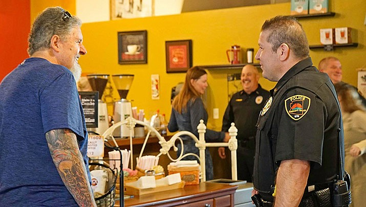 """The Prescott Valley Police Department will host its next """"Coffee with a Cop"""" event Friday, June 11, 2021, at Rafter Eleven, 2985 Centre Court, Suite B, in Prescott Valley. (Courier file photo)"""
