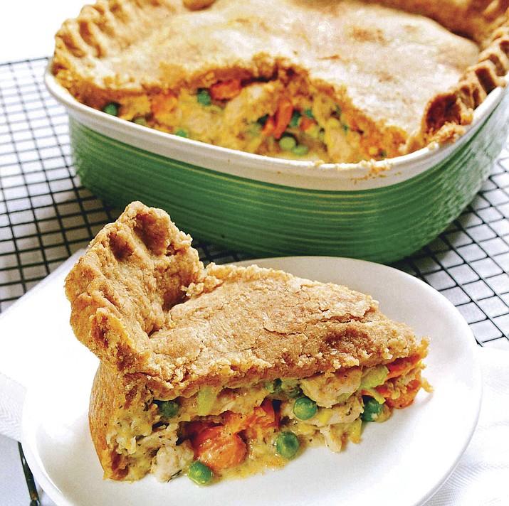 Turkey Vegetable Pot Pie with Whole-Wheat Crust. (Metro Creative)