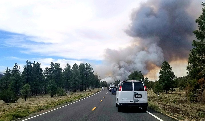The Arizona Department of Transportation reported June 7 that U.S. 180, north of Flagstatff, was closed in both directions because of a brush fire. The highway was closed between mileposts 235-248.  (Lo Frisby/WGCN)