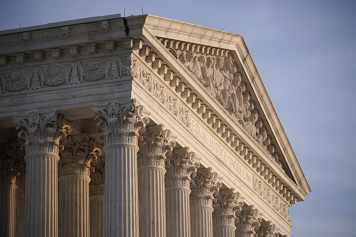 In this Nov. 5, 2020, file photo the Supreme Court is seen in Washington. (J. Scott Applewhite/AP, file)