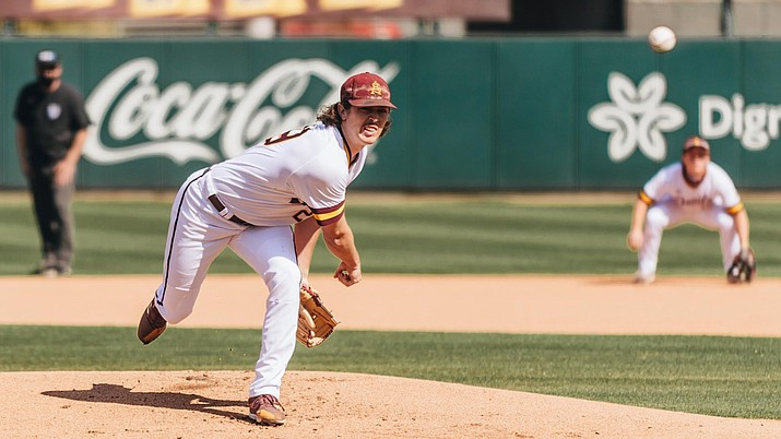 Tyler Thornton will take the mound Friday for the Sun Devils. He has 70 strikeouts on the season. (Sun Devil Athletics/Courtesy)