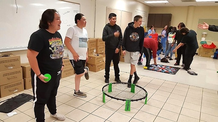 Eighth grade students participate in a lock-in to celebrate the closing of the 2020- 2021 school year. (Photos/WEMS)
