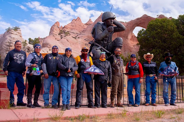Council Delegate Eugene Tso welcomes the Navajo-Hopi Honor Riders to the Window Rock and Veterans Memorial Tribal Park in Window Rock June 3. (Photo/Navajo Nation)