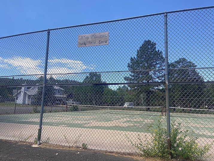 A generous donation gives promise for a new court surface and upgrades at the city of Williams' aging tennis courts. (Wendy Howell/WGCN)