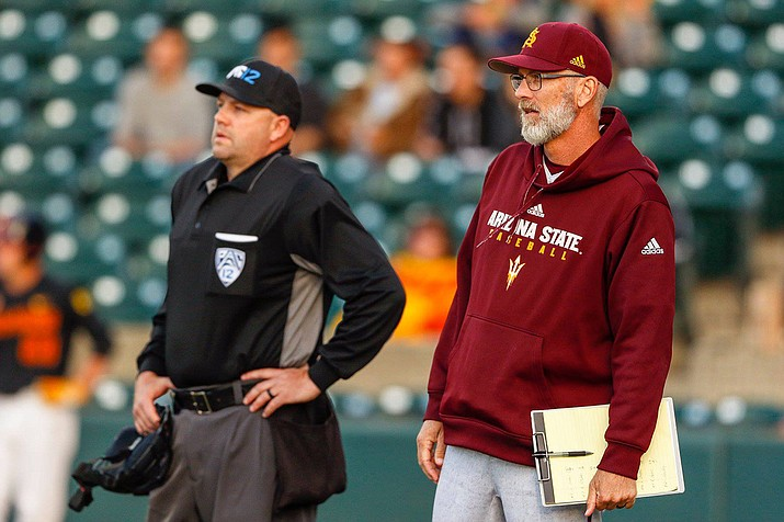 Arizona State parted ways with baseball coach Tracy Smith Monday after the team repeatedly struggled in the postseason. (Brady Klain/Cronkite News file photo).