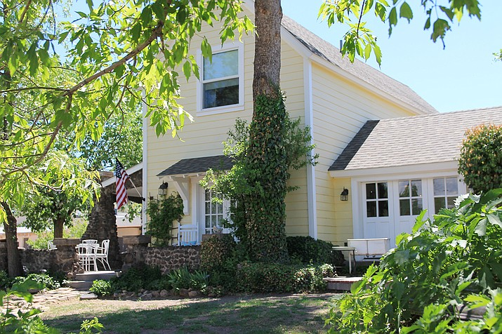 The Historic Yellow House in Williams, owned by Kerry-Lynn Moede, has been listed on the market. (Wendy Howell/WGCN)