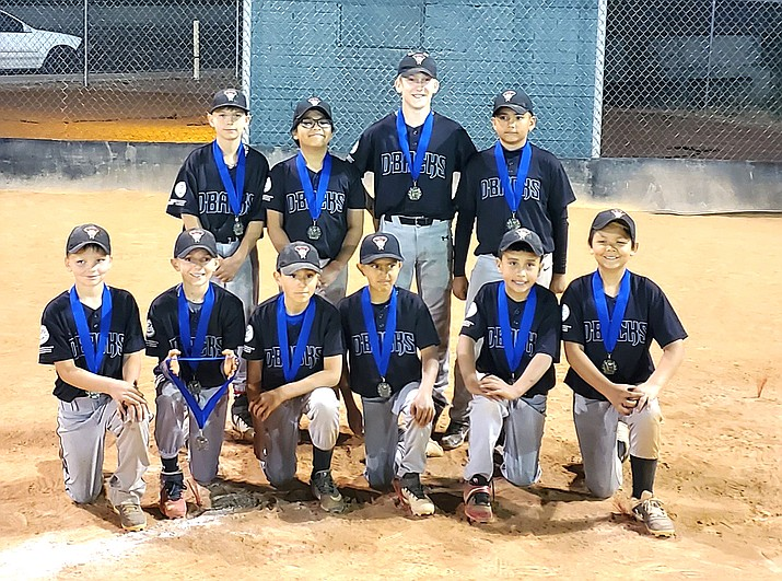 The Yankees Major team won the Tournament of Champions for Williams Little League last week. Top row, from left: Bradley Valdez, Carlos Davalos, Michael Cavaletto and Anthony Martinez. Bottom row, from left: Aydin McCarren, Daniel Rigo, Nahim Ramirez, Aiden Pedraza, Santos Wagner and Jayden Sanchez. Not pictured: Cody McCloy, Zayden Gonzales and Zachary Mitchell. (Submitted photo)