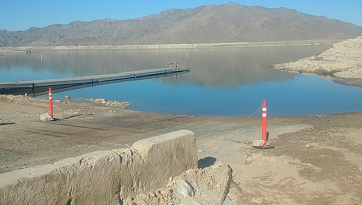 This photo shows the old boat launch ramp at South Cove on Lake Mead. (Photo by Don Martin)