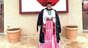 Hopi High alumni receives  masters in pursuit of law degree photo