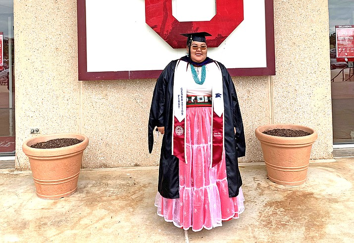 Hopi High School graduate Lacey Tewanema plans to use her master's in Indigenous Peoples Law at the University of Oklahoma to pursue a law degree. (Photo courtesy of Lacey Tewanema)