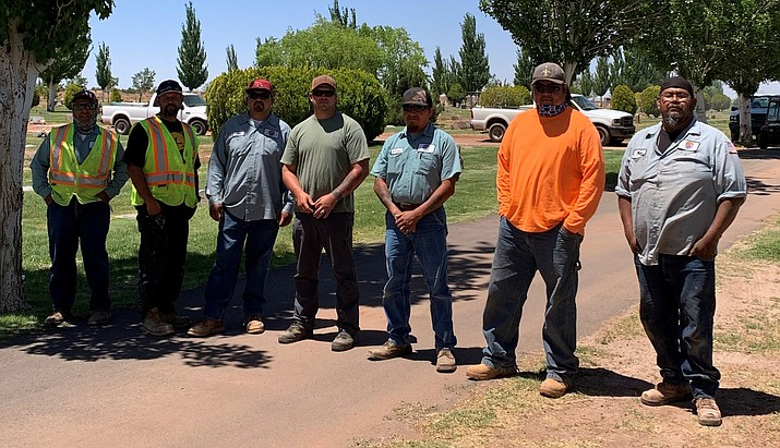 The city of Winslow commended the Winslow Parks Department and the many volunteers who prepared the cemetery for the Memorial Day Holiday. Staff included: Allen Bolding, John Lugo, Mike Spex, Tony Canales, Donovan Yazzie, Jack Williams, Pete Diaz and Marcus Dixon (Photo/City of Winslow)