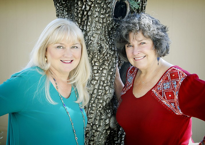 Mary Alberts, left, and Jane Cheek, right, formed the acapella duo AcaBella for the Natural Women Festival 2 on Sunday, June 13, 2021. (Highlands Center/Courtesy)
