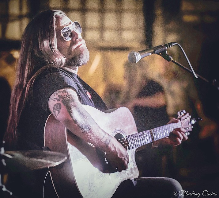 Vocalist and Guitarist Drew Hall will take the stage with Ponderosa Grove at 6:45 p.m. Friday, June 18, 2021, for their album release show. (Tracy Scheffer/Courtesy)