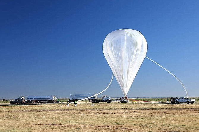 One of NASA's scientific balloons, similar to the one shown, was seen floating over northern Arizona June 8. (File photo by Joy Ng/NASA Goddard Space Flight Center)