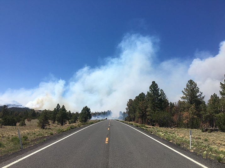 Portions of Highway 180 from Cedar Ranch to Kendrick Park will remain closed for the foreseeable future while crews work to contain the Slate Fire. (Photo/ ADOT)
