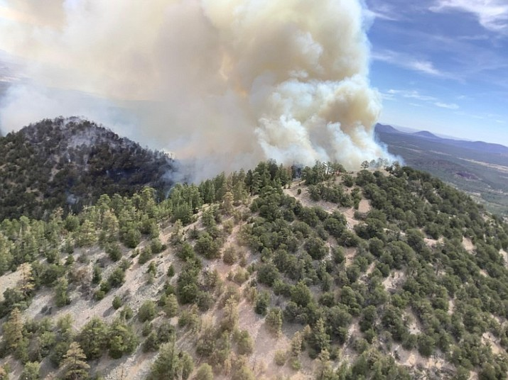 Coconino National Forest is working to contain the Slate Fire, which is located along Highway 180 and has grown to 2,000 acres. (Photo/Inciweb)