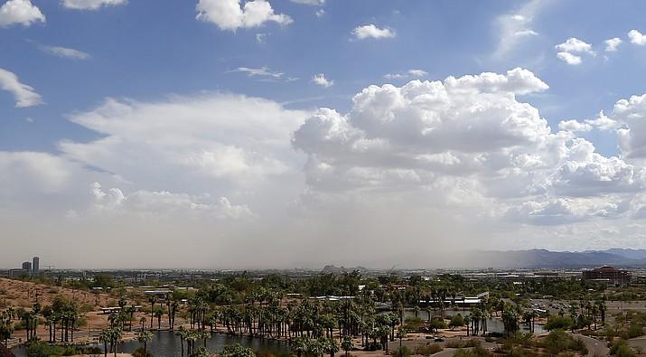 A monsoon dust storm. (AP Photo/Ross D. Franklin)
