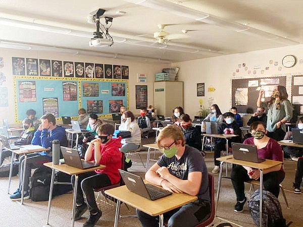 In this undated file photo, students study in a classroom at Bradshaw Mountain High School. The school board approved a $34.76 million budget for 2021-22 on Tuesday, June 8, 2021. (Courier file photo)