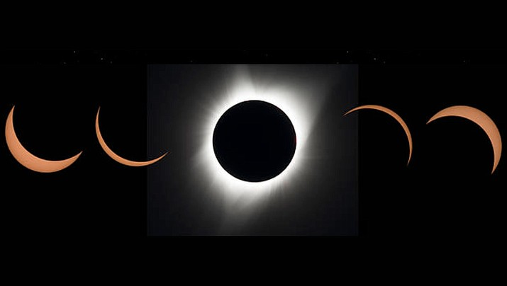 """On Thursday, June 10, the moon will partially block out the sun to create a """"ring of fire"""" solar eclipse. This event will not be visible in Arizona. (NASA/Courtesy)"""
