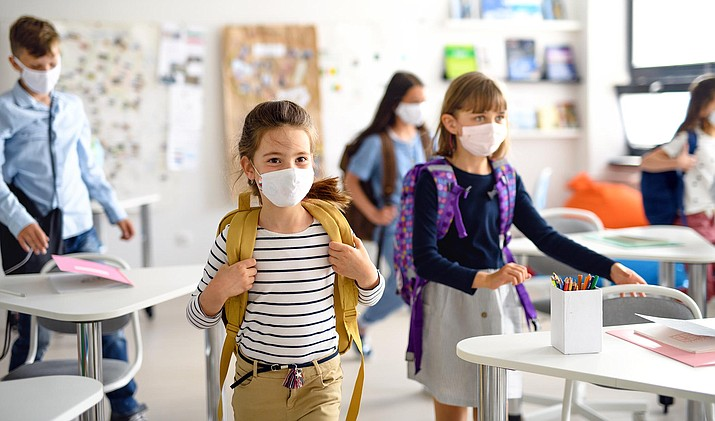 The Clarkdale-Jerome School Board voted Tuesday to make facemasks optional beginning immediately.  Adobe stock image.