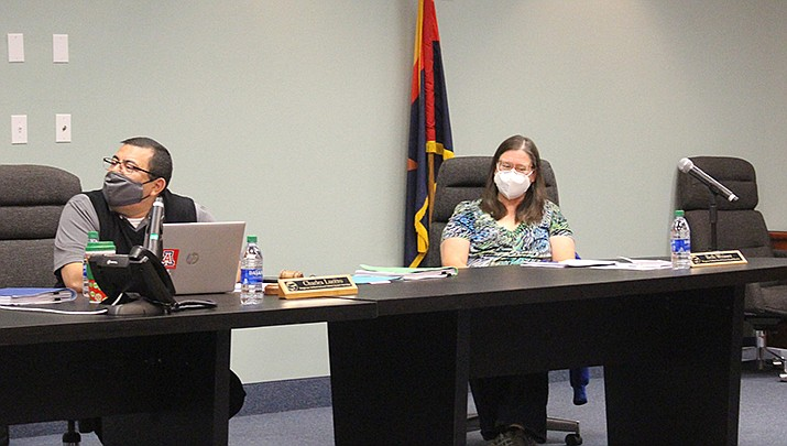 The Kingman Unified School Board on Tuesday, June 8 approved $500 stipends for employees who worked during the pandemic. Kingman Unified School District board meeting. (Miner file photo)