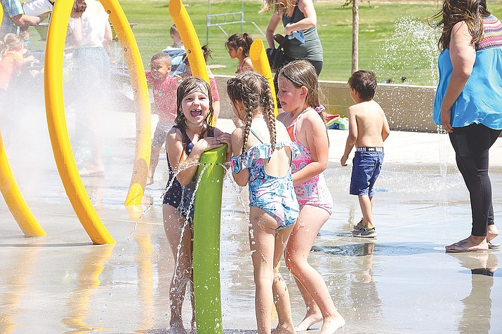 The spray pad at Bob Edwards Park in Prescott Valley is scheduled to be closed Monday, June 14, 2021, for as long as two weeks for the installation of a water tank. (Town of Prescott Valley/Courtesy)