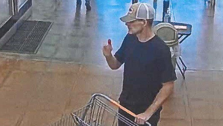 The Kingman Police Department is seeking the public's assistance in identifying the suspect or suspect vehicle reportedly involved in a theft of a wallet. (KPD photo)