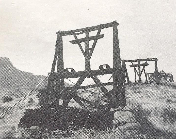 Weathered tramway towers at De Soto Mine, circa 1880s. (David Sayre/Courtesy)