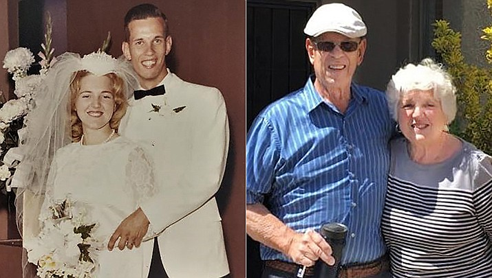 Ed and Sandy Znetko were married on May 21, 1966. Shown are the couple in 1966 and today.(Courtesy)