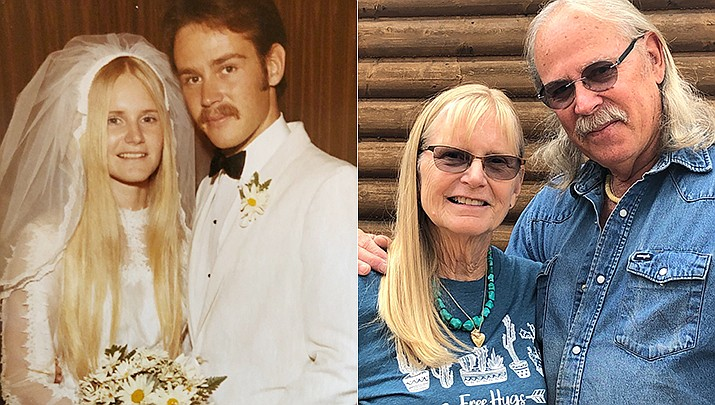 Paul and Susan Davidson celebrate their 50th wedding anniversary; pictured then and now. (Courtesy)