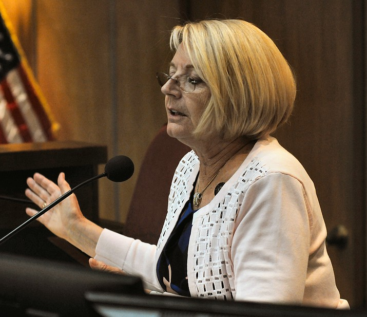 Karen Fann, president of the Arizona Senate, wants an increase in unemployment benefits but Rep. Jake Hoffman, among others, is standing in her way. (Capitol Media Services)