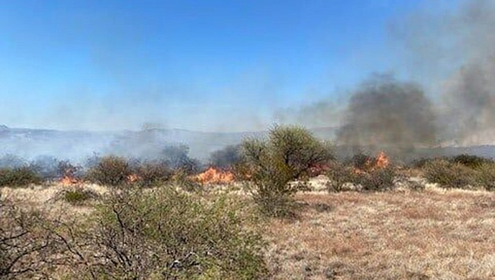 Flames and smoke from the Cornville Fire (Sedona Fire Department)