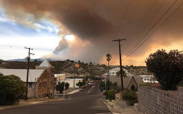 Nearly 1,000 firefighters focused Sunday on monitoring and mopping up the fire lines around the Telegraph Fire burning south of Superior, Arizona. Smoke will be visible for days or possibly weeks in south-central Arizona. (City of Globe/Courtesy)