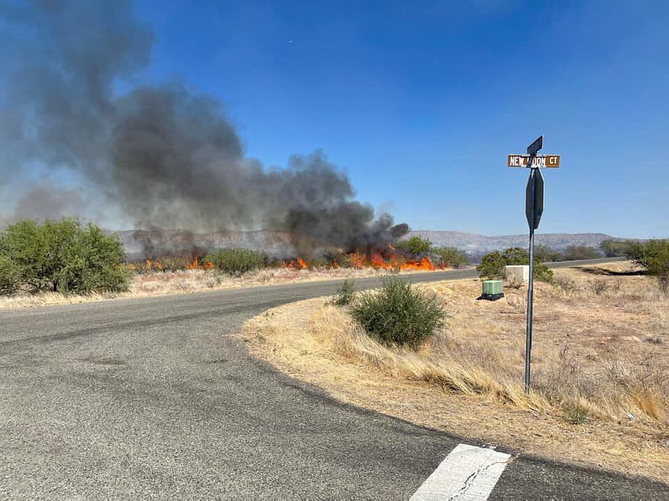 Flames burning near Cornville Road. (Yavapai County Sheriff's Office)