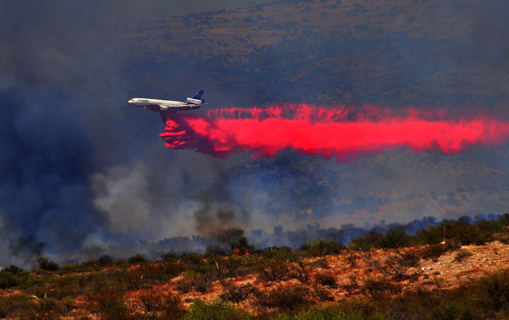 Fire agencies are currently working a large wildfire in the Cornville area. (Vyto Starinskas/Verde Independent)