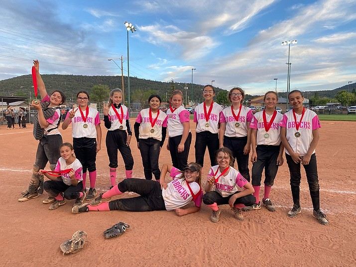 The Ash Fork Rock Hounds won the Williams Little League Tournament of Champions June 5. Players include: Monzerrat De La Torre, Taylor Diaz, Eva Flores, Kayleigh Flynn-Burke, Isabella Garcia, Kristin Johnson, Paige Kessler, Aura Mendez, Crystal Nixon, Haileigh Solberg, Arlette Sotelo-Ayala, Gracie Staples and Andrea Vazquez. The team was coached by Lauren Hume and Erika Acosta-Zamudio. (Submitted photo)