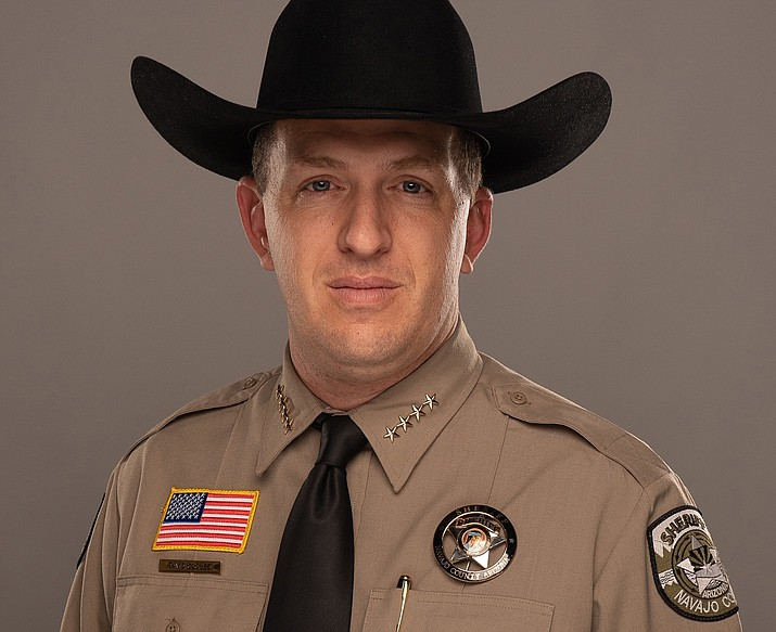 Navajo County Sheriff David Clouse from the School of Police Staff and Command (SPSC) at Northwestern University March 28. (Photo/Navajo County Sheriff's Office)
