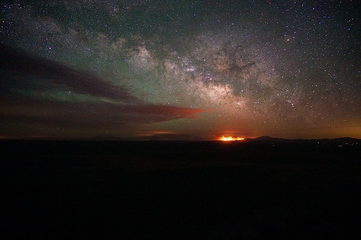 The Slate Fire as seen from the Red Butte Lookout north of Valle, Arizona. (Submitted Photo)