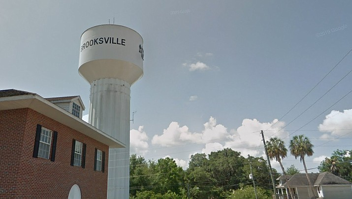 A businessman purchased a municipal building underneath the Florida city of Brooksville's water tower last April for $55,000 with the goal of converting it into a gym. However, when he went to the county to get an address for his new business location, he was told the parcel he bought included the entire water tower site. (Google Street View)