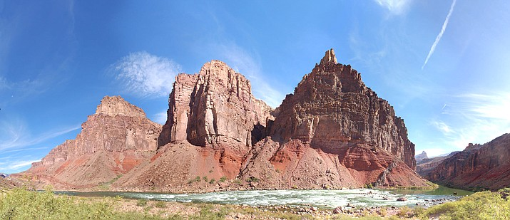 Hance Rapid at River Mile 77, as seen from the shoreline of the Colorado River in Grand Canyon. (Photo/NPS)