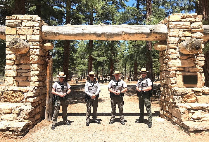 Local American Legion Post 42 honored Memorial Day with a 21 gun salute at the Grand Canyon Cemetery - rangers attended the memorial in a show of support and remembrance. (Photo/NPS)