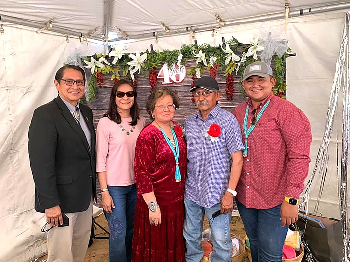 Navajo Nation President Jonathan Nez and First Lady Phefelia Nez attended the 40th Wedding Anniversary celebration for Jimmy and Thomasina Willie, who are the parents of JT Willie, who serves as the Division Director of the Navajo Nation Division of Economic Development. (Photos/OPVP)