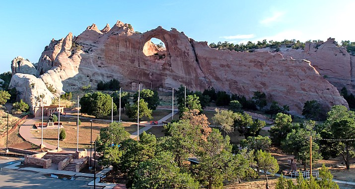 The Window Rock and Veterans Memorial Tribal Park are among the parks that would open with Legislation No. 0076-21. (Photo/Navajo Nation Council)