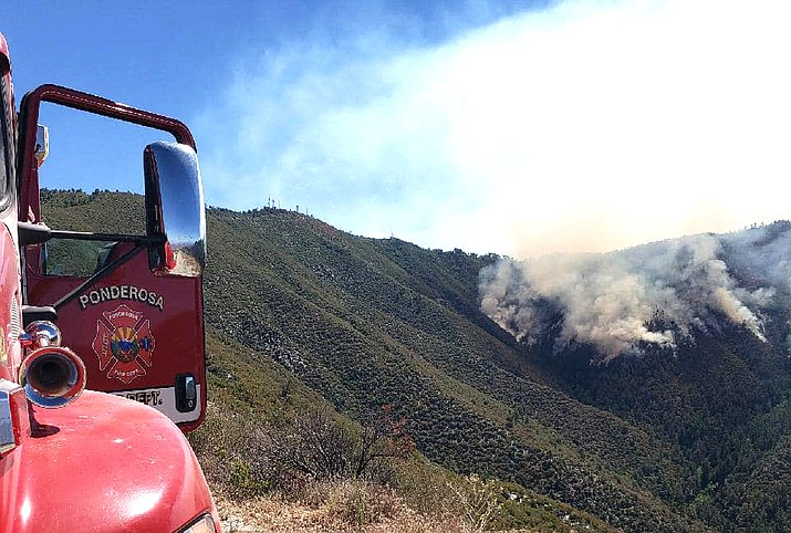 The Telegraph Fire is located southeast of Superior, Arizona. (Photos/Ponderosa Fire Department)