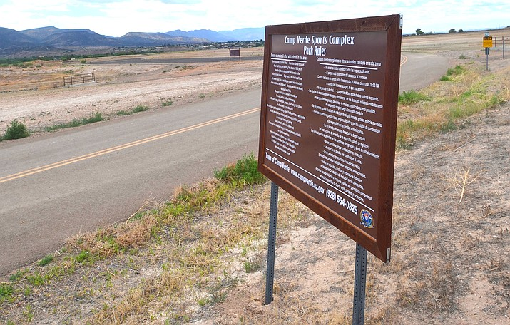 The Camp Verde Town Council will discuss the remaining work for the town's $12 million sports complex Wednesday night. VVN/Vyto Starinskas