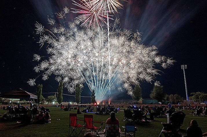 The Chino Valley Fourth of July fireworks show in 2016. With fire restrictions in Yavapai County ramping up, the Town of Chino Valley has decided to cancel its Fourth of July fireworks show this year, the town announced Tuesday, June 15, 2021. (Courier file photo)