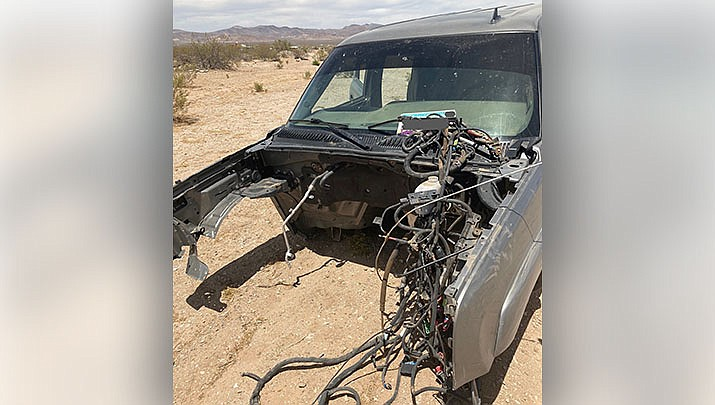 This is one of the stolen vehicles discovered at a chop shop in Dolan Springs by a multi-agency task force this month. (MCSO photo)