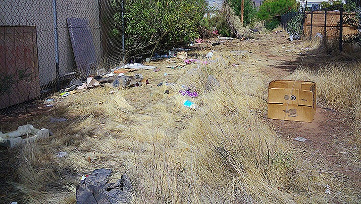 This is some of the garbage scattered near Billy Rogers' home in Kingman. (Courtesy photo by Billy Rogers)